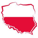 Polska - mapa - kontur