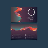 Elegant business card template with colorful background and