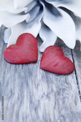 deux cœurs rouge Poster