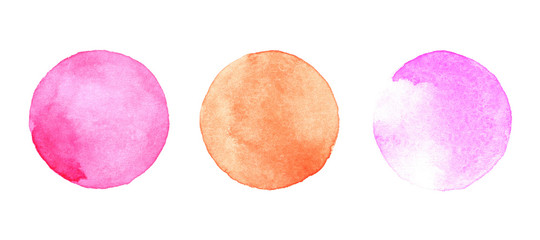 Watercolor painted circles set © Ron Dale