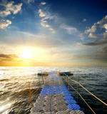 Pontoon in the sea
