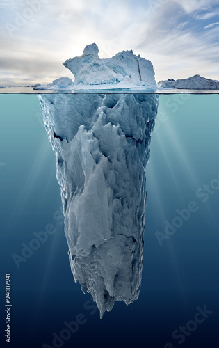 iceberg with underwater view - 94007941