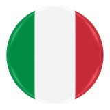 Italian Flag Badge - Flag of Italy Button Isolated on White