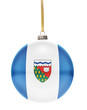 Bauble with the flag design of Northwest Territories.(series)