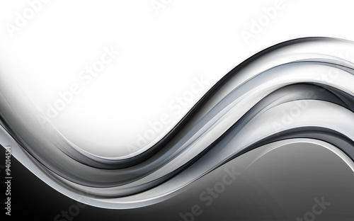 Abstract Gray Wave Design Background