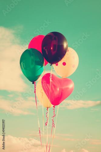 Fototapeta balloons at sky
