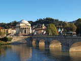 Fototapety Gran Madre Church and river Po in Turin, Italy.