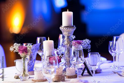 Papiers peints Table preparee Hochzeitsdekoration
