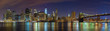 Quadro Manhattan skyline at night, New York panoramic picture, USA.