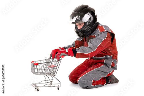 Keuken foto achterwand F1 Racing driver shopping