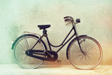 Fototapety beautiful Old rusty bicycle retro with awesome effect colors on