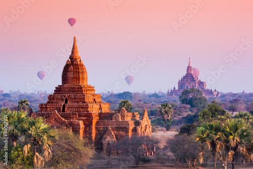 Papiers peints Rose clair / pale Bagan, Myanmar