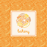 Fototapety Bakery concept and logo design template