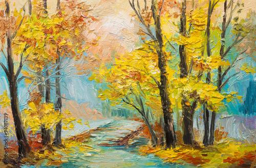 oil-painting-landscape-colorful-autumn-forest