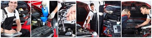 Deurstickers Car repair service.