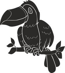 silhouette toucan