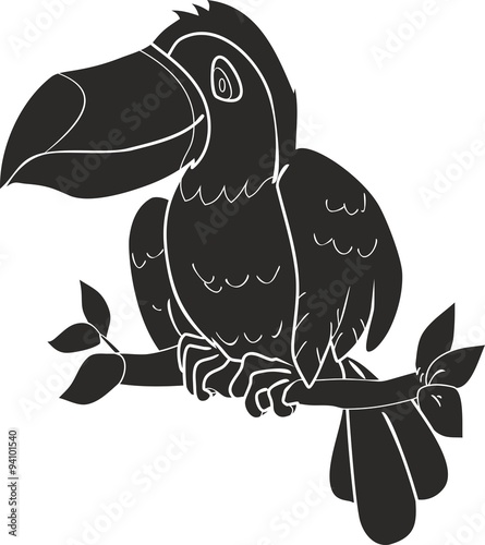 silhouette toucan