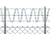 Highly detailed prison or refugee camp fence