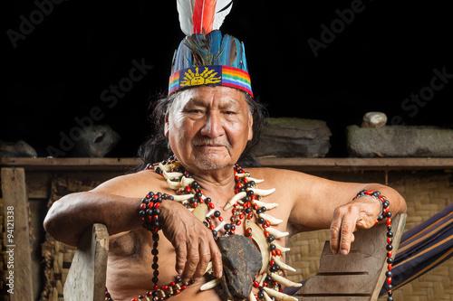obraz PCV Amazonian Shaman Portrait