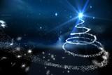 Christmas tree spiral of light