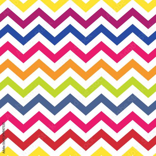 fototapeta na ścianę Chevron pattern seamless colorful vector