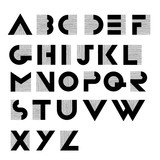 Wide decorative retro alphabet