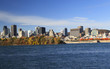 Montreal skyline with Saint Lawrence River in autumn, Quebec, Canada