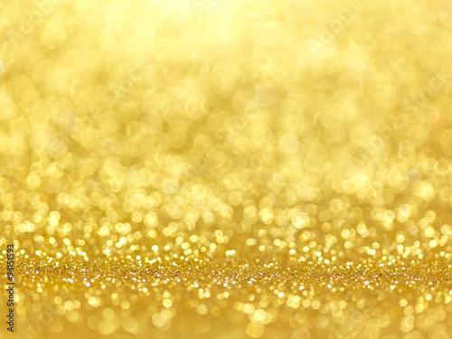 Naklejka Gold Festive Christmas background.