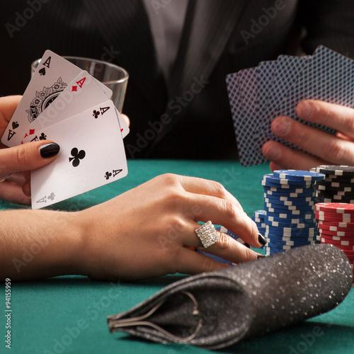 Poster Poker game in casino