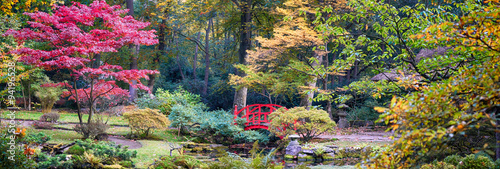 autumn in Japanese park, panorama