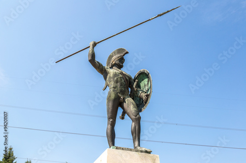Poster Statue of Leonidas king of Sparta