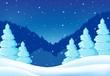 Winter theme landscape 2