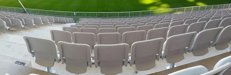 Vue panoramique d'une Tribune dans un stade de football