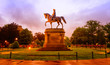 Statue of George Washington in the Boston Public Garden. Filtered color