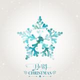 Fototapety Christmas Card Geometric