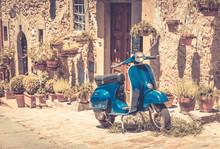 Skuter w Toskanii