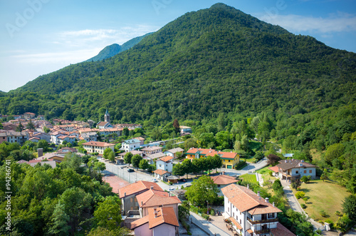 Aerial view on Prato Carnico © Stockr