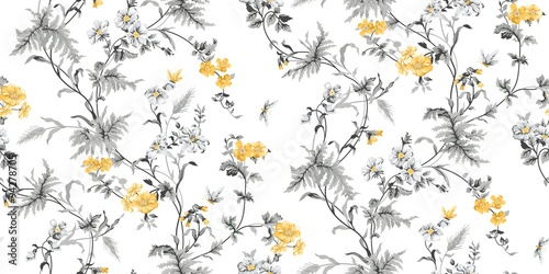 Echo Floral Seamless Pattern - 94278705