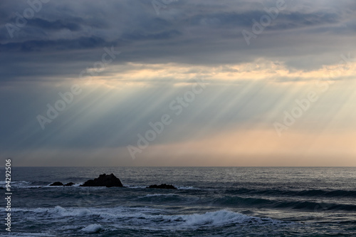 Cloudy seascape before storm