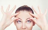 Fototapety Wrinkles on the forehead