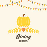 Thanksgiving design with buntings