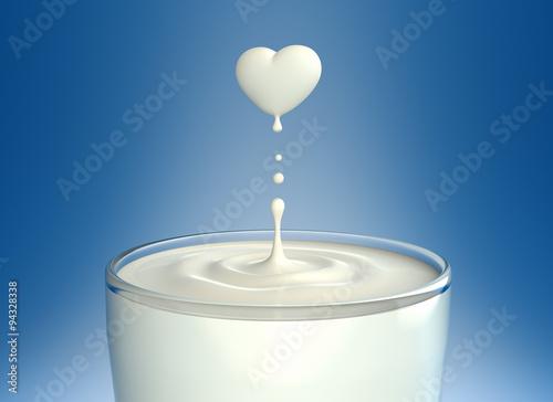 Fototapeta Love Milk