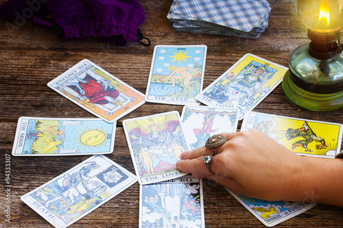 Plakát Fortunetelling with  Tarot cards