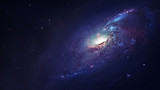 Fototapety Awesome spiral galaxy many light years far from the Earth. Elements furnished by NASA