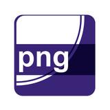 Icono plano aplicacion con extension png poster