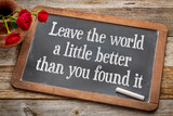 Leave the world a little better