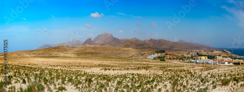 Foto op Plexiglas Fantasie Landschap Landscape mountain fantasy Fuerteventura Canary islands, Spain