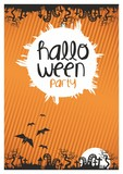 Halloween party flyer, poster