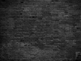 Fototapety Part of black painted brick wall. Empty