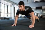 Fototapety Sportsman doing push-ups